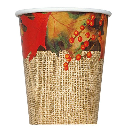 9oz Rustic Autumn Leaves Party Cups, 8ct
