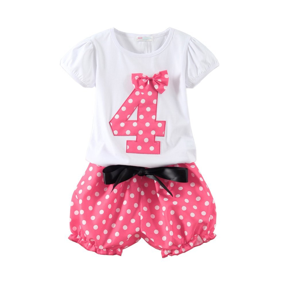 Mud Kingdom Little Girls Birthday Clothes Sets Gifts Z-T0512