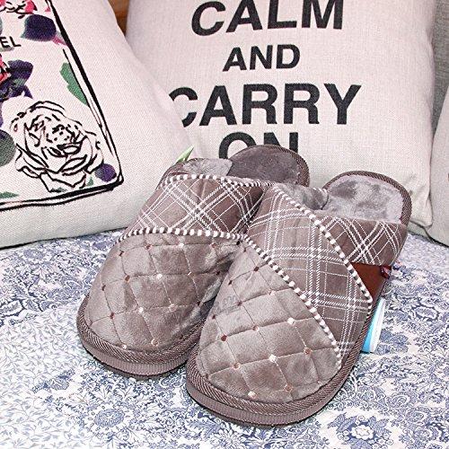 Deslizamiento En Invierno Laxba Los De Desgaste 48 Para Hombres De De De Brown47 Imitación Yardas Zapatos 43 Caliente Forrada Deslizadores De Piel Nieve Los FwSq5Sd