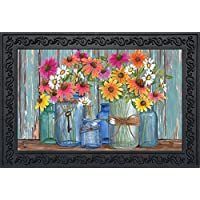 "Briarwood Lane Farm Fresh Flowers Spring Doormat Indoor Outdoor 18"" x 30"""