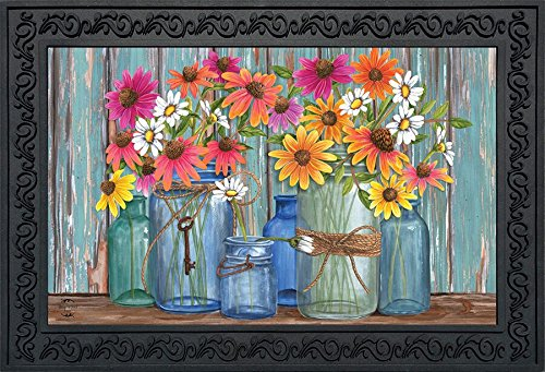 Briarwood Spring - Briarwood Lane Farm Fresh Flowers Spring Doormat Indoor Outdoor 18