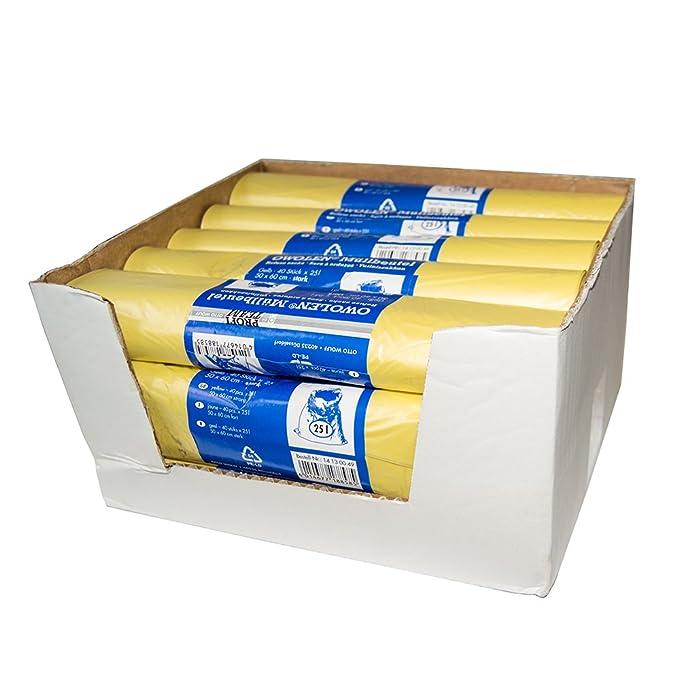 600 unidades amarillas owolen® bolsas de basura 25L extra ...