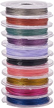 Mixed Colorful 10 Rolls X 10M Tiger Tail Wire 0.38mm