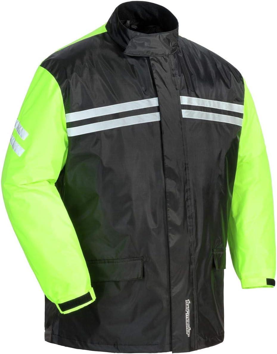 Hi-Vis Waterproof Motorcycle Motorbike Rain Over Suit Sizes M-5XL