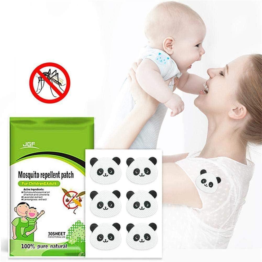 yummyfood Autocollant Anti Moustique Hypoallerg/énique Huile Essentielle Autocollants R/épulsifs Patches Moustiques Portables Dext/érieur Non Toxique pour B/éb/é Enfants Adulte