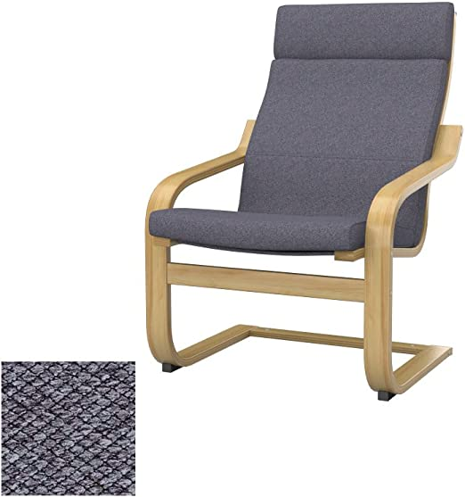 Soferia Replacement Cover for IKEA POÄNG chair, fabric Nordic Anthracite