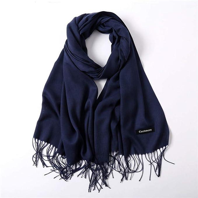 DXIU Bufandas mujer/bufanda para mujer/bufanda de color liso para ...