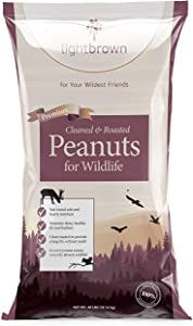 Lightbrown Premium Cleaned & Roasted Peanuts for Birds and Wildlife. No Mess Wholesome Nuts. The Best Bird Seed for Wild Birds! (40)