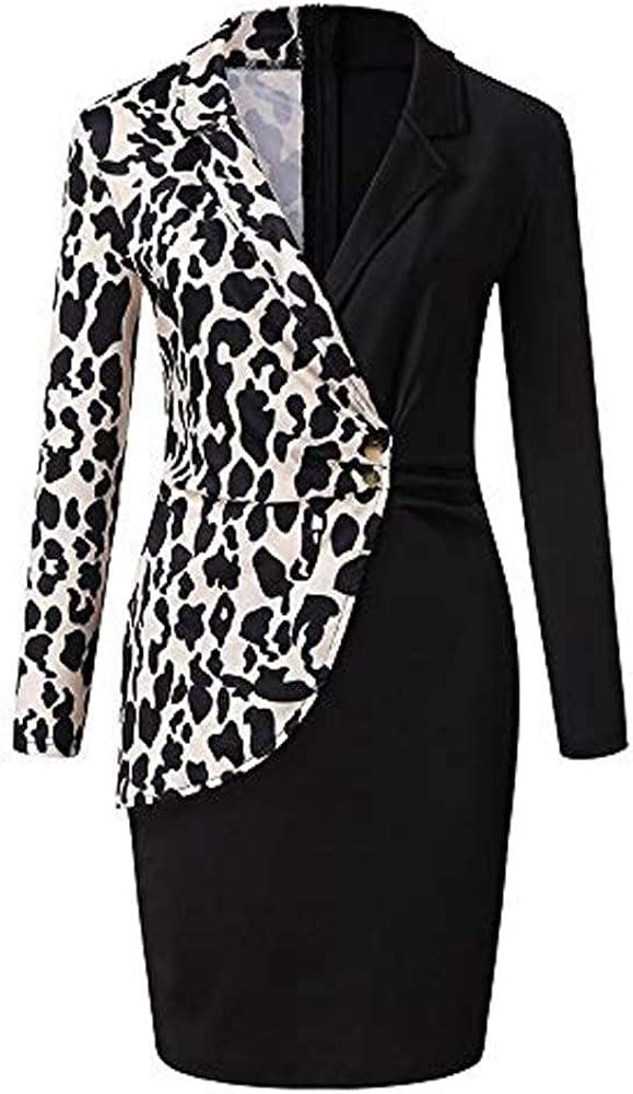 Aniywn Ladies Bodycon Blazer Dress Women Slim Fit Pinstripe Patchwork Bodycon Dress Suit Sets