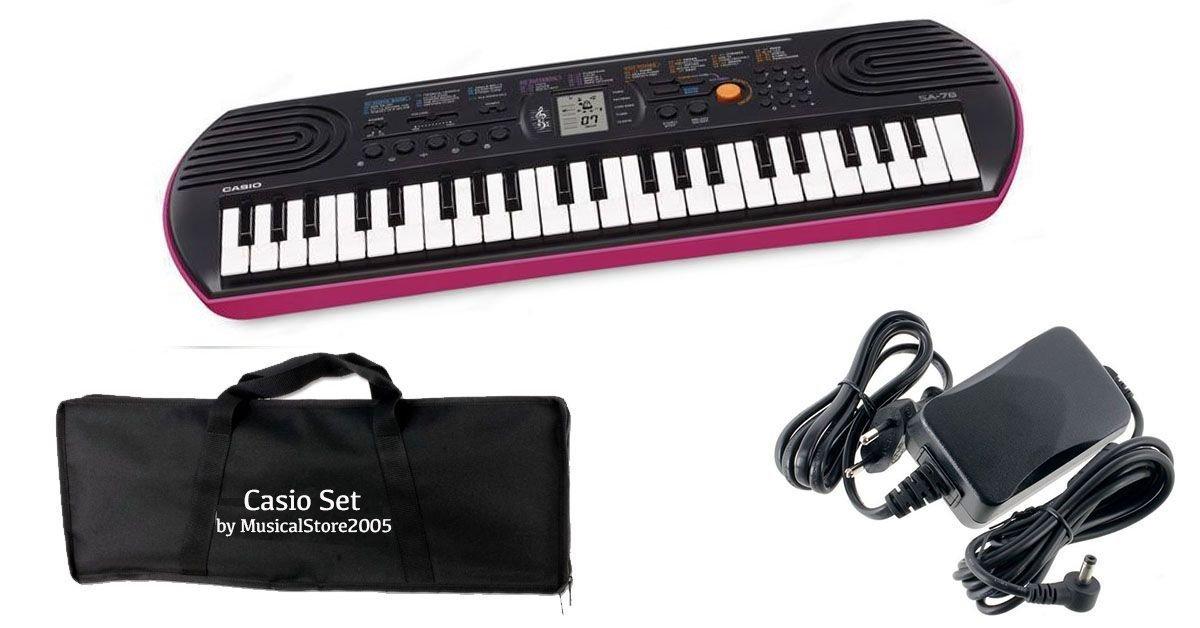 Casio Juego Teclado SA78/Minibag/Cargador Bundle: Amazon.es: Instrumentos musicales