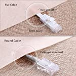 Cat 6 Ethernet Cable 75 ft Flat with Clips, Durable Long Internet Network LAN Patch Cords, Solid Cat6 High Speed… 11 Bundled with the 20 cable clips so no need to buy them elsewhere High Performance Cat6 30 AWG UL listed RJ45 Ethernet Patch Cable provides universal connectivity for LAN network components such as PCs computer servers printers routers switch boxes network media players NAS VoIP phones Cat 6 standard provides performance of up to 250 MHz and is suitable for 10baset-t 100BASE-TX(Fast Ethernet) 1000baset-t/1000base-tx(gigabit ethernet)and 10gbase-t(10-gigabit Ethernet)