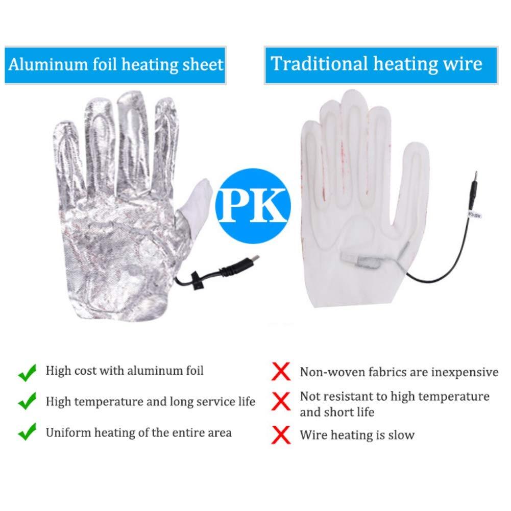 Guanti termici touchscreen impermeabili invernali Guanti riscaldanti elettrici con presa USB Mrinb Guanti riscaldati per uomo donna per equitazione allaperto Pesca Sci Escursionismo