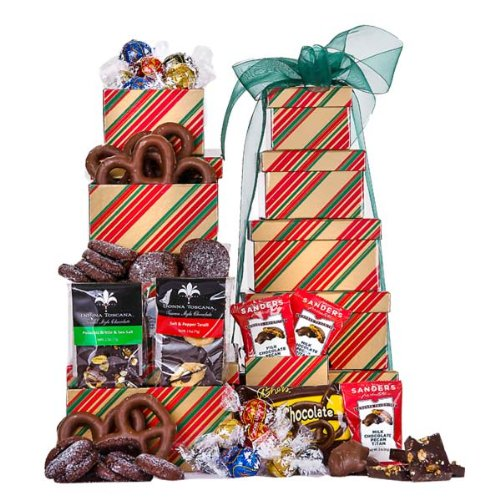 Holiday Sweets Gourmet Tower (Christmas Gift Baskets Online)