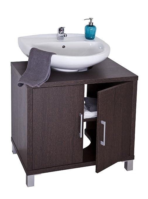 Intradisa 8915 - Mobile da bagno con 2 ante wengè: Amazon.it: Casa e ...