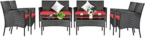 Tangkula 8 PCS Patio Furniture Set - a good cheap patio conversation set