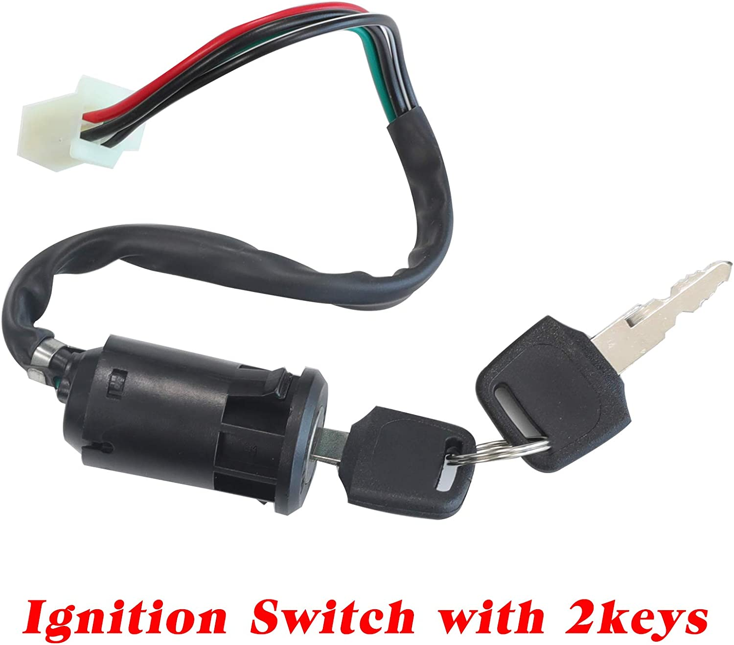 8 parts Necaces Electrics Stator Coil CDI Wiring Harness Solenoid Relay Spark Plug for 4 Stroke ATV 50cc 70cc 110cc 125cc Pit Quad Dirt Bike Go Kart Scooter Moped Parts Complete Wiring Harness