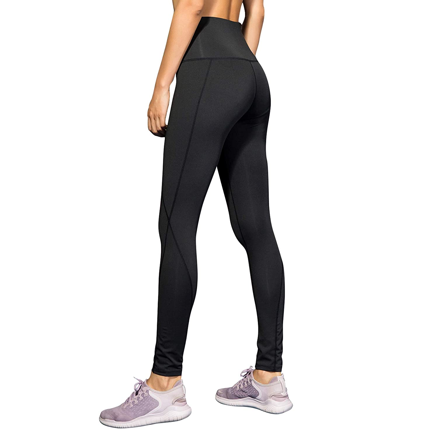 6eb2487437 Amazon.com: Womens High Waisted Athletic Leggings with Pocket Slim Fit  Running Leggings Tights Yoga Pants for Women: Clothing