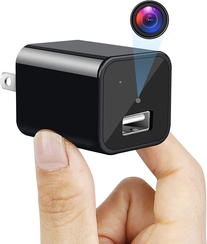 Maram Mini Charger Camera HD 1080P Motion Detection USB Wall Adapter Camera Plug Camera Loop Recording Nanny Cam Home Security Surveillance Camera Housekeeper - Video Only