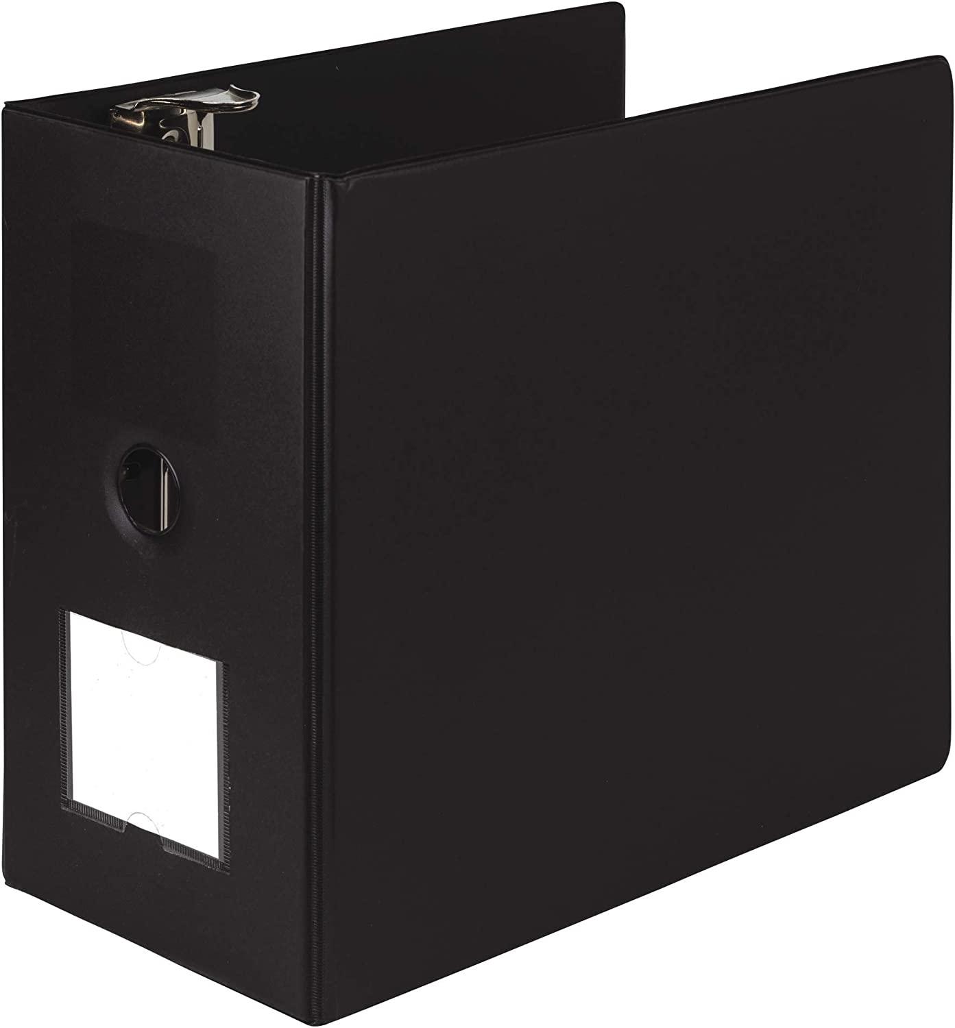 Samsill Heavyweight Reference Ring Binder, 3 Ring Binder with Label Holder for Home or Office, 6 Inch Locking D-Rings - Holds 1225 Sheet, Black