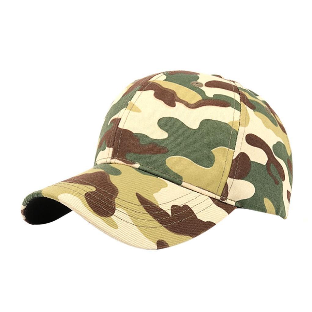 Hemlock Hats Camouflage Sport Caps,Hemlock Outdoor Sun Cap Fishing Hat Snapback Baseball Cap Adjustable Beach Hats (Green)