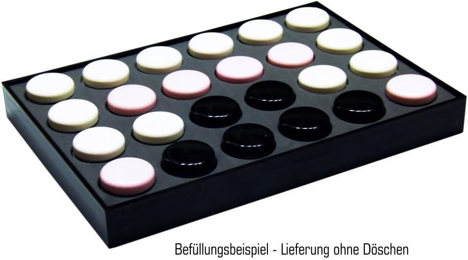 NAILFUN Pr/ésentoir de Rangement Noir pour 24 Pots