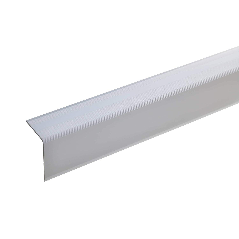 acerto 51011 Aluminium Treppenwinkel-Profil Treppenstufen-Profil aus Alu I Treppenprofil 42x30mm 100cm bronze hell I Rutschhemmend I Robust I Leichte Montage I Treppenkanten-Profil