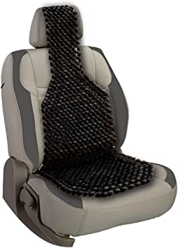 Cooling Stress Fee Reduces Fatigue Universal Auto SUV Truck Office Home Wooden Bead Double Strung Cushion VaygWay Beaded Car Seat Cover-Black Wood Cushion Massage Comfort Cover