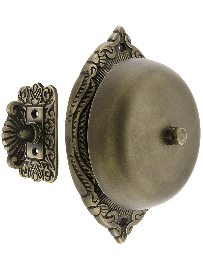 Transitional Victorian Mechanical Door Bell In Oil Rubbed Bronze
