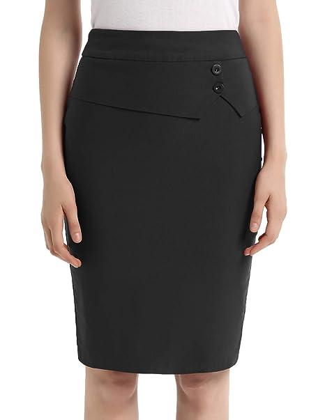 27cdeb06081 GRACE KARIN Women s Work Office Business Pencil Skirt High Waist Knee  Length Skirts Black S