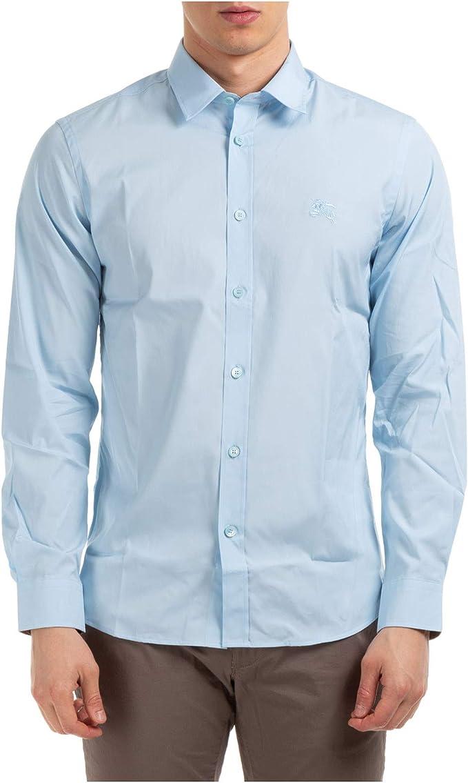 BURBERRY Hombre Camisa Pale Blue: Amazon.es: Ropa y accesorios