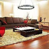 LightInTheBox LED Crystal Chandelier, 40 LEDs, Fashionable Round Stainless Steel Plating Modern Home Ceiling Light Fixture Flush Mount, Pendant Light Chandeliers Lighting, Voltage=90-240V