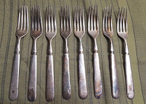 (8) 1847 ROGERS BROS Silverplate Dinner Forks Set of ()