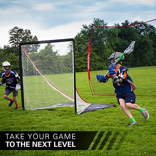 Rukket 12x9ft Barricade Backstop Net | Indoor and Outdoor Lacrosse, Basketball, Soccer, Field Hockey, Baseball, Softball Barrier Netting for Backyard, Park, And Residential Use