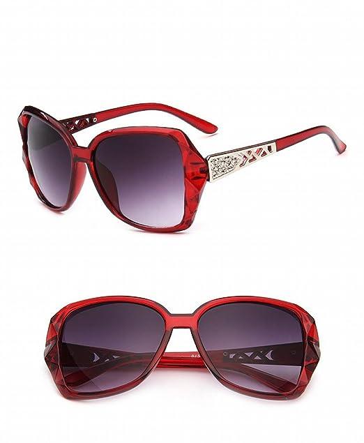 art- und weisesonnenbrille 5101 Retro- Große rahmen-frauen sonnenbrille sanshou sonnenbrille Rotwein hT4wY6