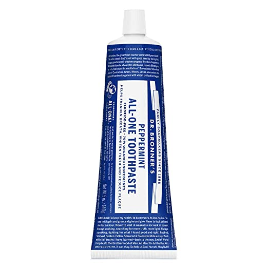 The Dr. Bronner's - All-One Toothpaste travel product recommended by Jason McDowell on Pretty Progressive.