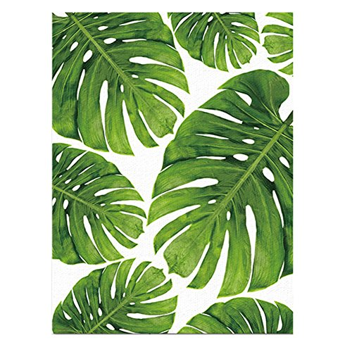 - ink2055 Green Palm Leaf Canvas Frameless Wall Art Painting Home Office Decoration