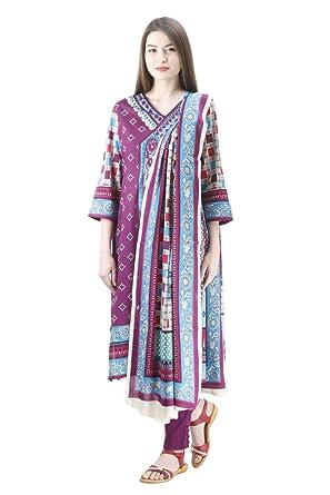 6982f68da4 Uptown Women's 100% Stitched Pakistani Cotton Lawn Suit: Amazon.in ...