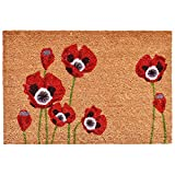 "Home & More 104032436 Red Poppies Doormat, 24"" x 36"", Multicolor"
