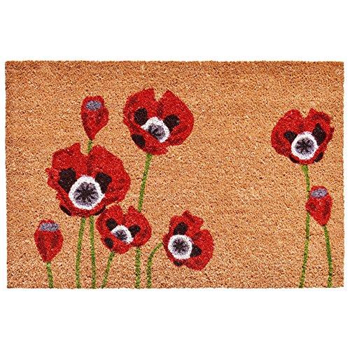 (Calloway Mills 104032436 Red Poppies Doormat, 24