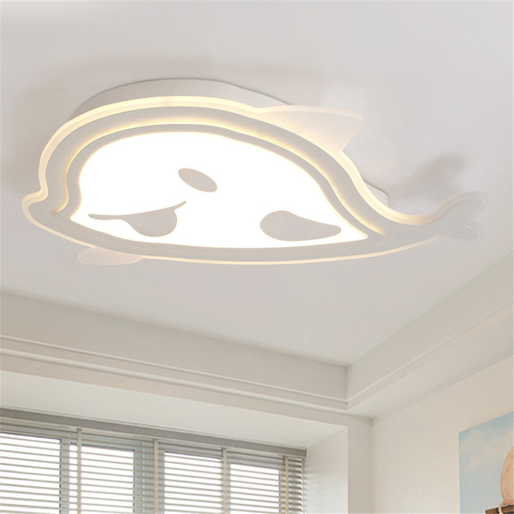 Leihongthebox Ceiling Lights lamp Children's room style for boys and girls to the blue led light ceiling light, adjust the light strip 650420mm remote control,,650420mm