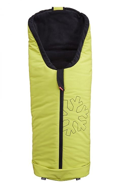 ByBoom Softshell Funda de invierno termoactiva para cochecito y buggy, color: lima/negro