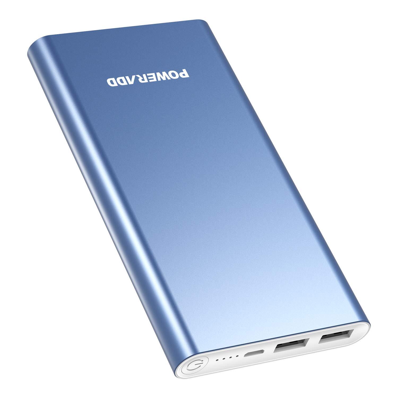 POWERADD Versión Mejorada Pilot 2GS Power Bank 10000mAh (Doble Puerto de Salida, 3.1A+3.1A) Cargador Portátil Batería Externa para iPhone, iPad, ...