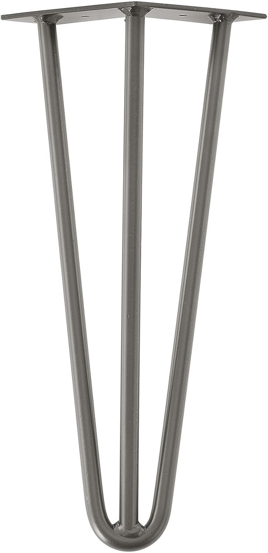 3 Varillas 72 cm en.casa Set de 4 Patas de Acero robustas Color: Cobre Hairpin Legs