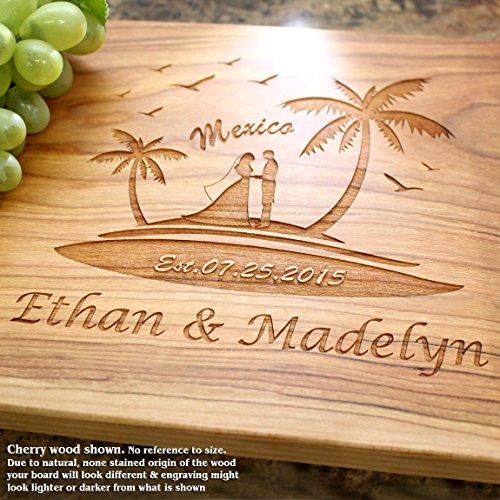 Board, Custom Keepsake, Engraved Serving Cheese Plate, Wedding, Anniversary, Engagement, Housewarming, Birthday, Corporate, Closing Gift #808 ()
