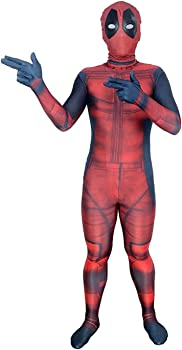 AOVEI Kids Onesie Spandex Mask Cosplay 3D Costume Party Movies Halloween Bodysuits