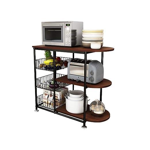 QFFL Estantes de cocina, Racks de Almacenamiento, Horno de ...