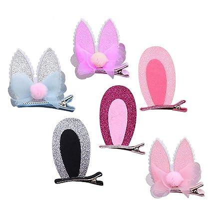 Cute Kids Girl Cat Rabbit Butterfly Bear Ears Hairpin Hair Clip Hair Accessories