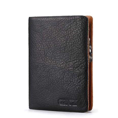 49dbd25c2 GAOQQ Cartera para Hombres - Diseño De Cuero Tarjeta De Crédito/Bolsillo  para Monedas (