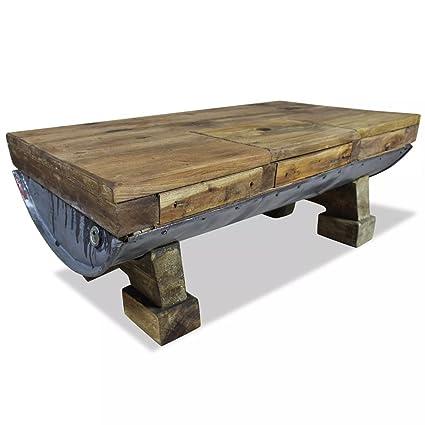 Marvelous Festnight Vintage Coffee Table Retro Style Handmade Side Coffee Table Living Room Furniture Solid Reclaimed Wood Evergreenethics Interior Chair Design Evergreenethicsorg