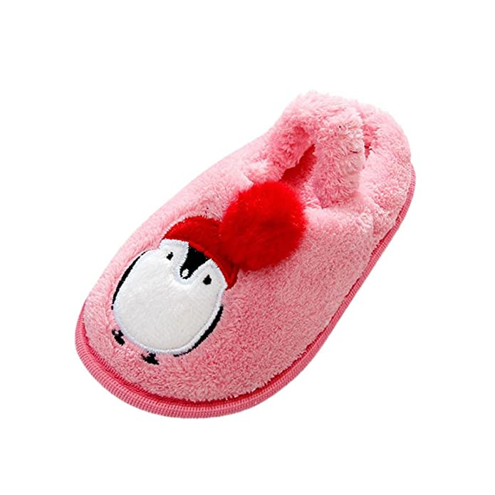 Jinjiu Kids Baby Girls Boys Cartoon Soft Warming Home Slipper Shoes